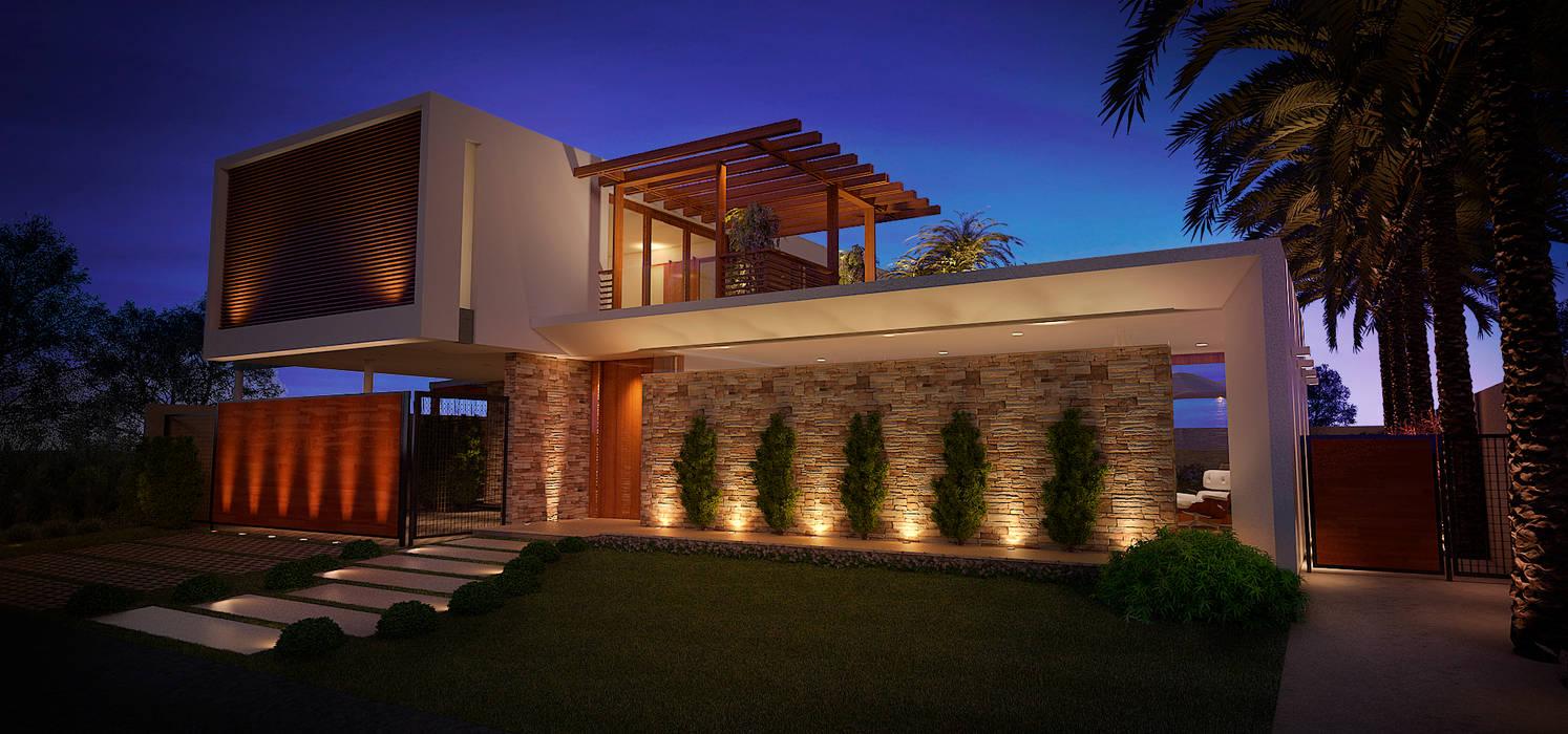 Casas modernas de ARC+ Arquitetura Moderno