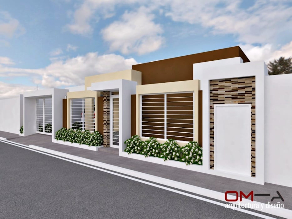 Diseño de vivienda unifamiliar Casas de estilo minimalista de om-a arquitectura y diseño Minimalista
