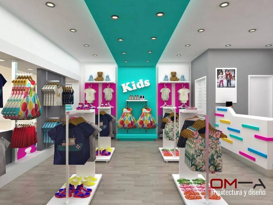 Diseño interior de tienda de ropa para niños om-a arquitectura y diseño Tiendas y espacios comerciales