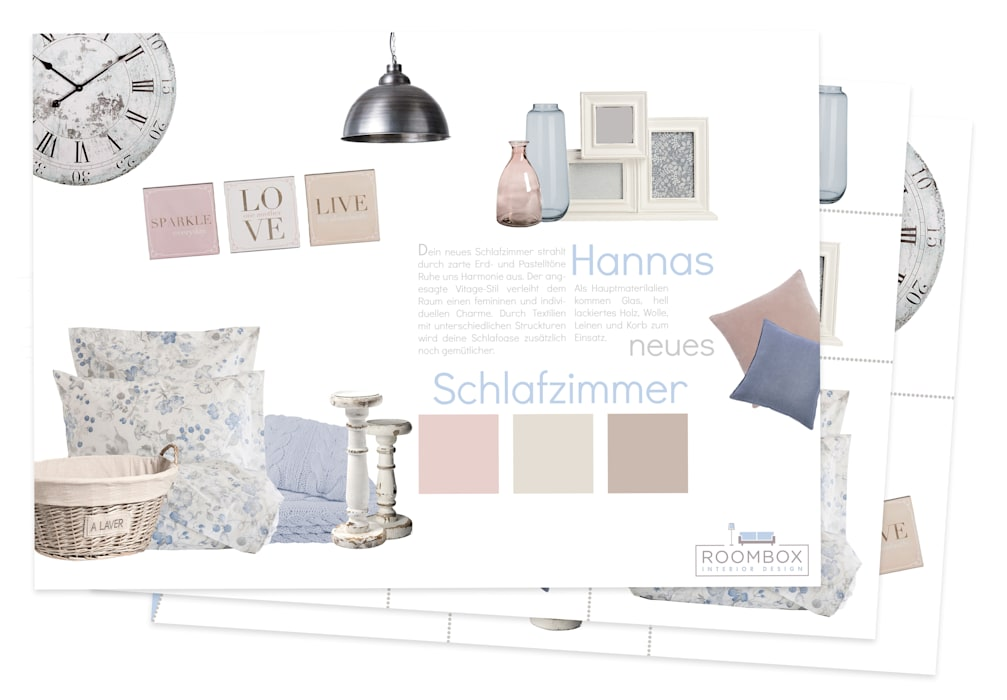 Roombox Interior Design Camera da lettoAccessori & Decorazioni Beige