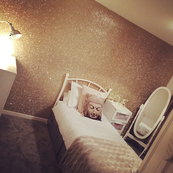 Champagne Gold Glitter Wallpaper The Best Wallpaper Place - Walls & flooringWallpaper Textile Amber/Gold