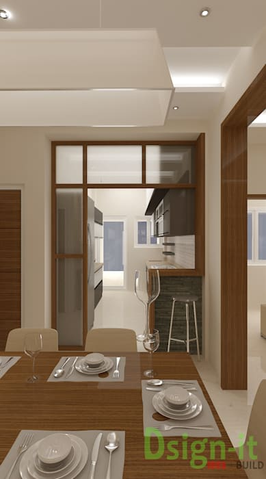 PROJECT-1 ( MR. Sunil , HSR LAYOUT ):  Dining room by Dsign-it,