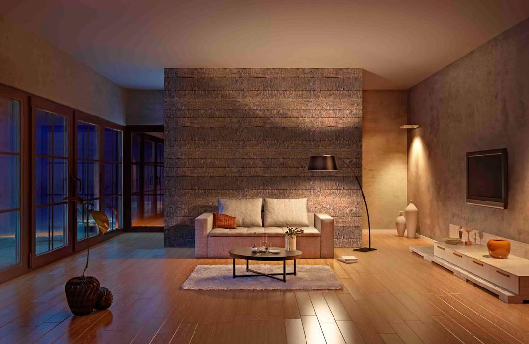 Tabla Rústica Nogal Paredes y pisos de estilo rústico de homify Rústico Aglomerado