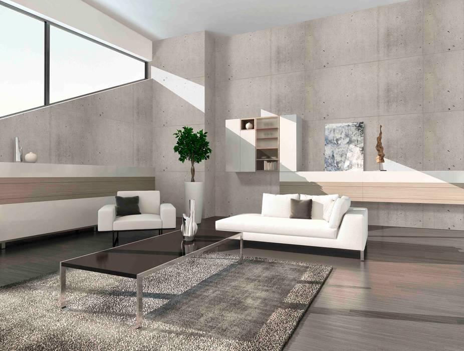 homify Industrial style walls & floors Chipboard Grey