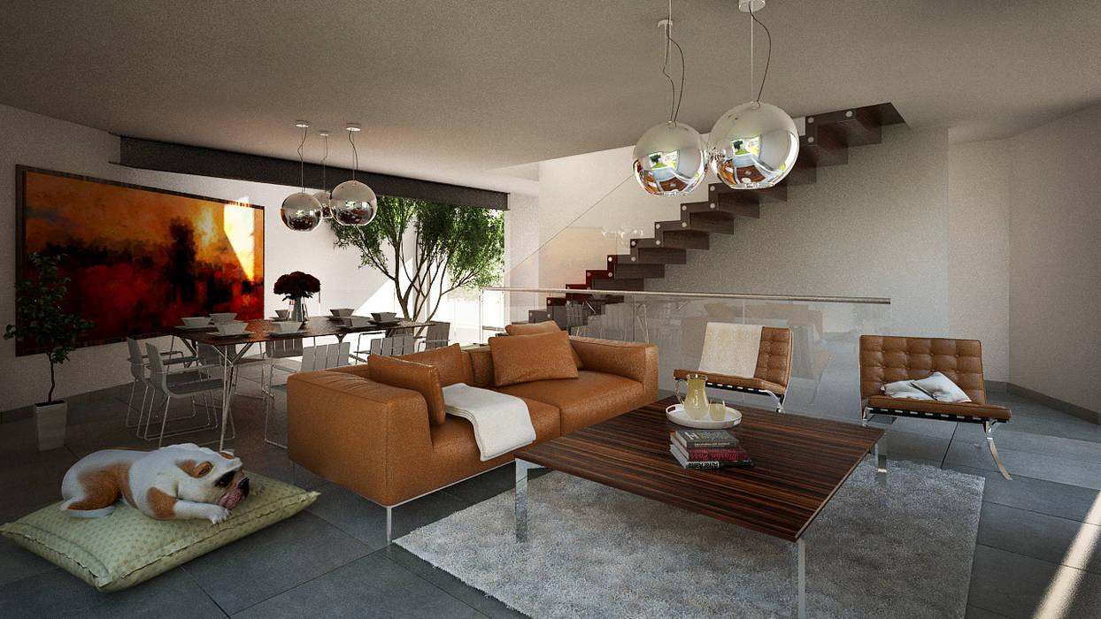 CONFORT: Salas de estilo moderno por ORTHER Architects