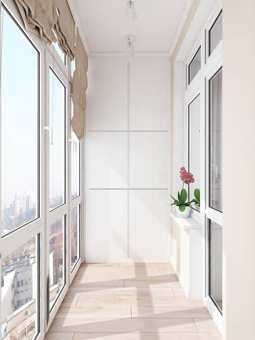 Terrazas de estilo  de Tatiana Zaitseva Design Studio, Clásico