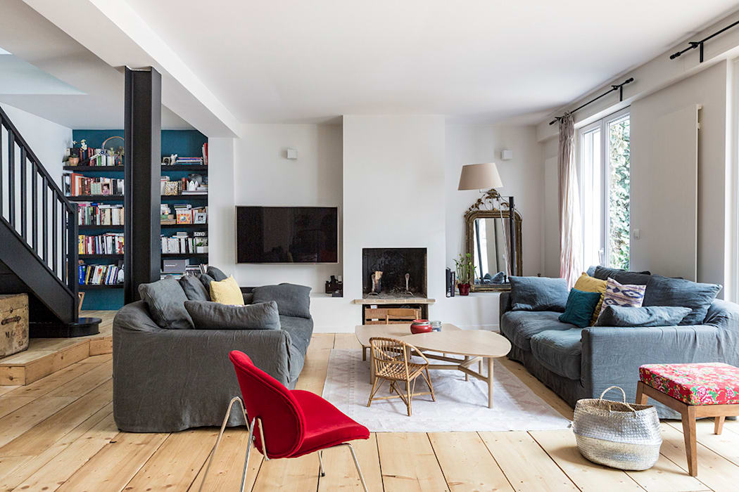Salones de estilo moderno de Olivier Stadler Architecte Moderno