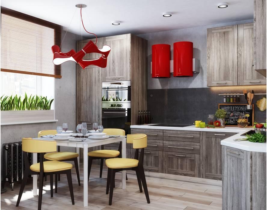 Cocinas de estilo industrial de Студия дизайна Interior Design IDEAS Industrial