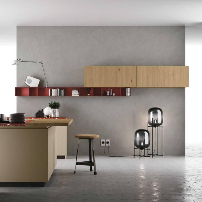 Cozinha Materia da Doimo Cucine Cozinhas modernas por Grupo Emme Cozinhas Moderno