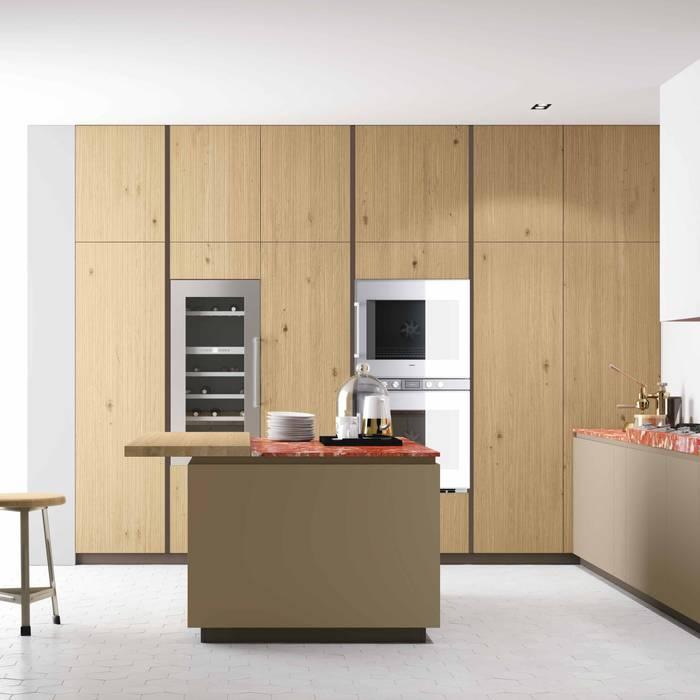 Cozinha Materia da Doimo Cucine Cozinhas modernas por Grupo Emme Cozinhas Moderno Madeira Acabamento em madeira