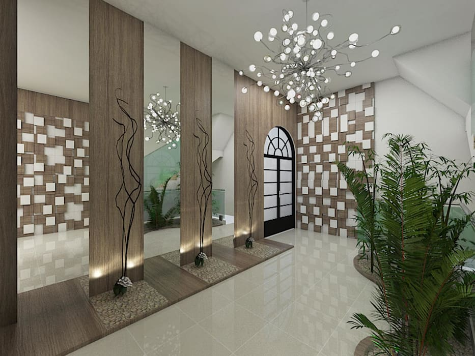 Pasillos, vestíbulos y escaleras de estilo ecléctico de Plano A Studio Ecléctico