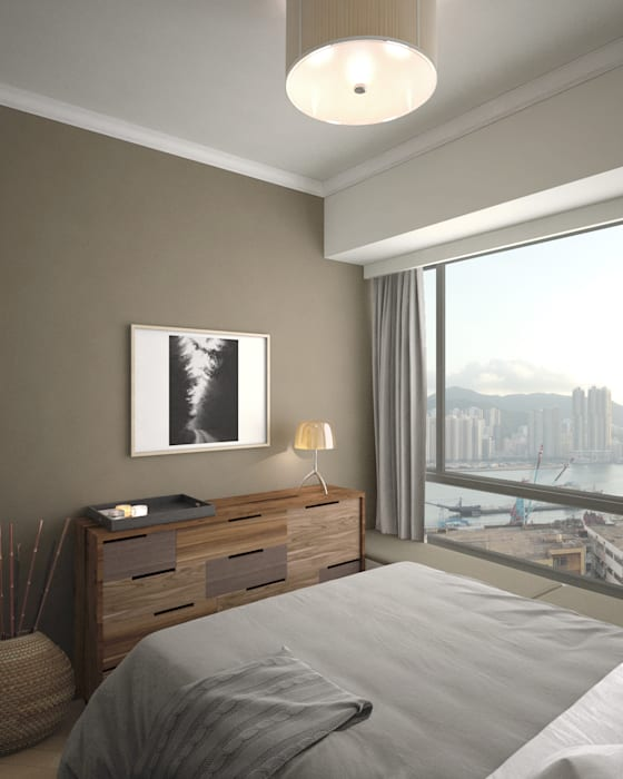 Ocean One | Lei Yue Mun | Hong Kong :  Bedroom by Nelson W Design, Classic