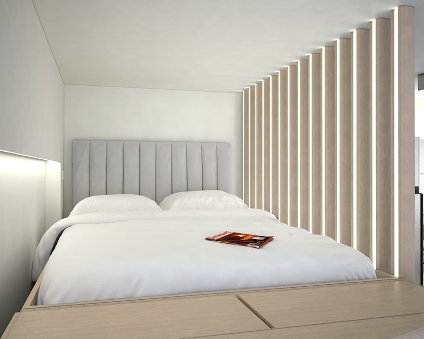 Vantage Park | mid-level | Hong Kong Modern style bedroom by Nelson W Design Modern
