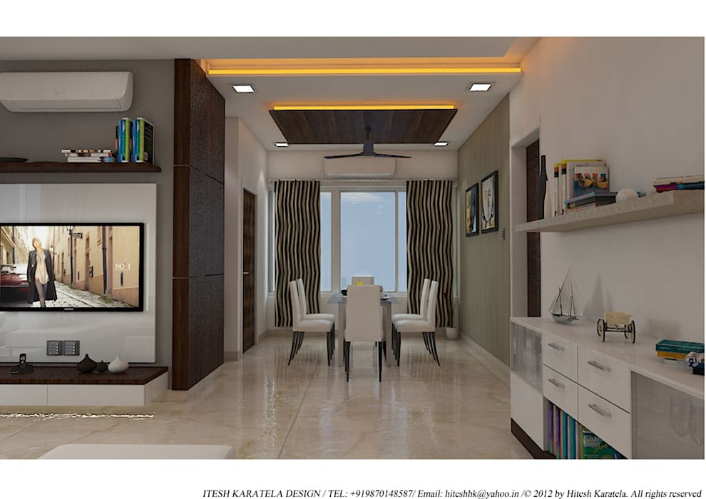 PIROZE PALACE SAMPLE FLAT:  Dining room by HK ARCHITECTS,Modern