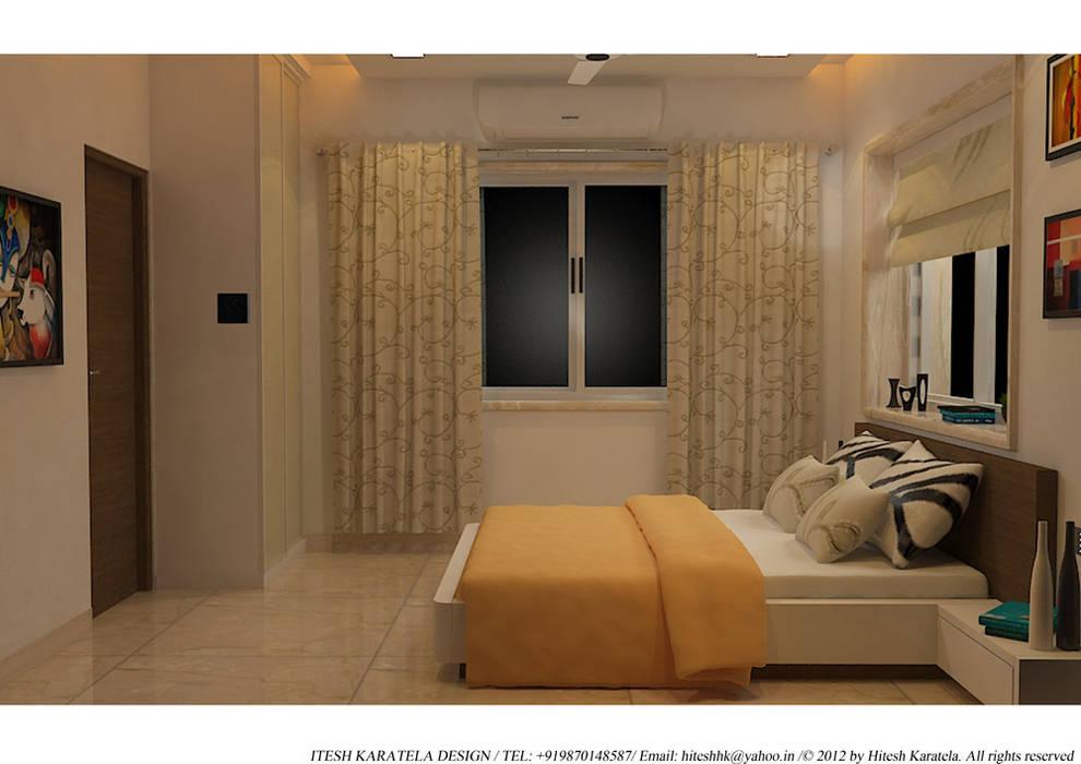PIROZE PALACE SAMPLE FLAT HK ARCHITECTS Modern style bedroom