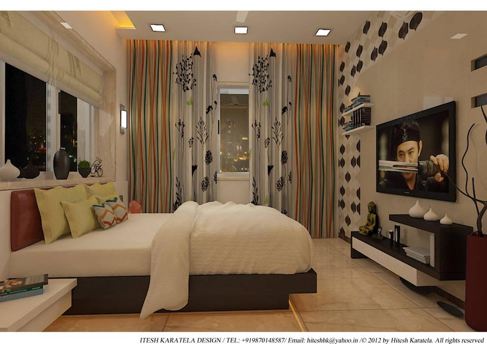 Chambre de style  par HK ARCHITECTS, Moderne