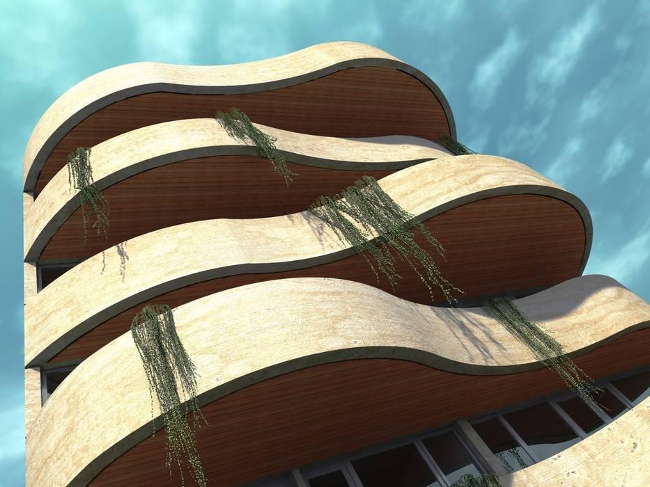 EROSSION Casas modernas: Ideas, imágenes y decoración de GGAL Estudio de Arquitectura Moderno