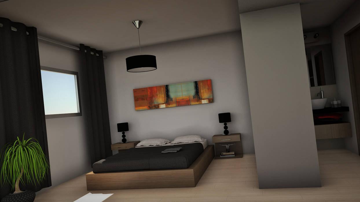 THE BLOCK: Dormitorios de estilo  por GGAL Estudio de Arquitectura