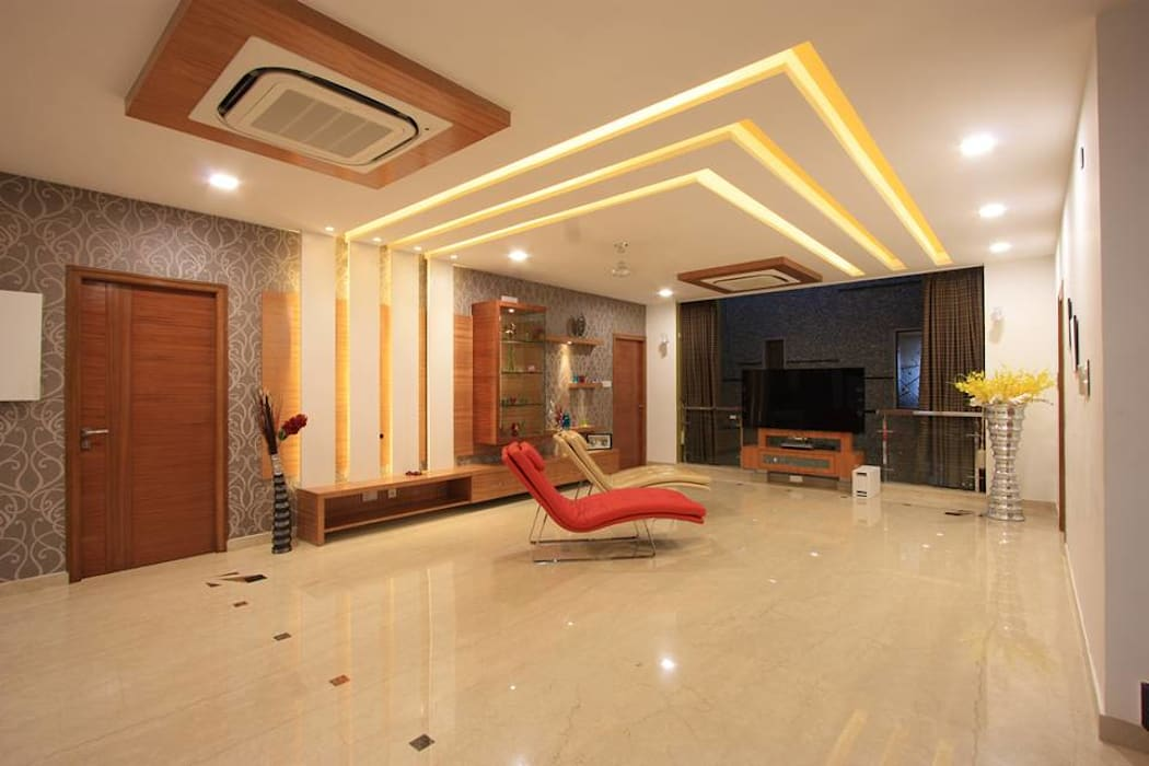 Family room: modern Living room by Ansari Architects