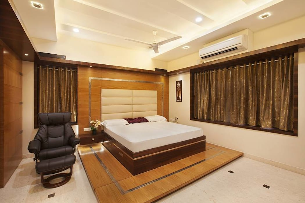 Master bedroom: modern Bedroom by Ansari Architects