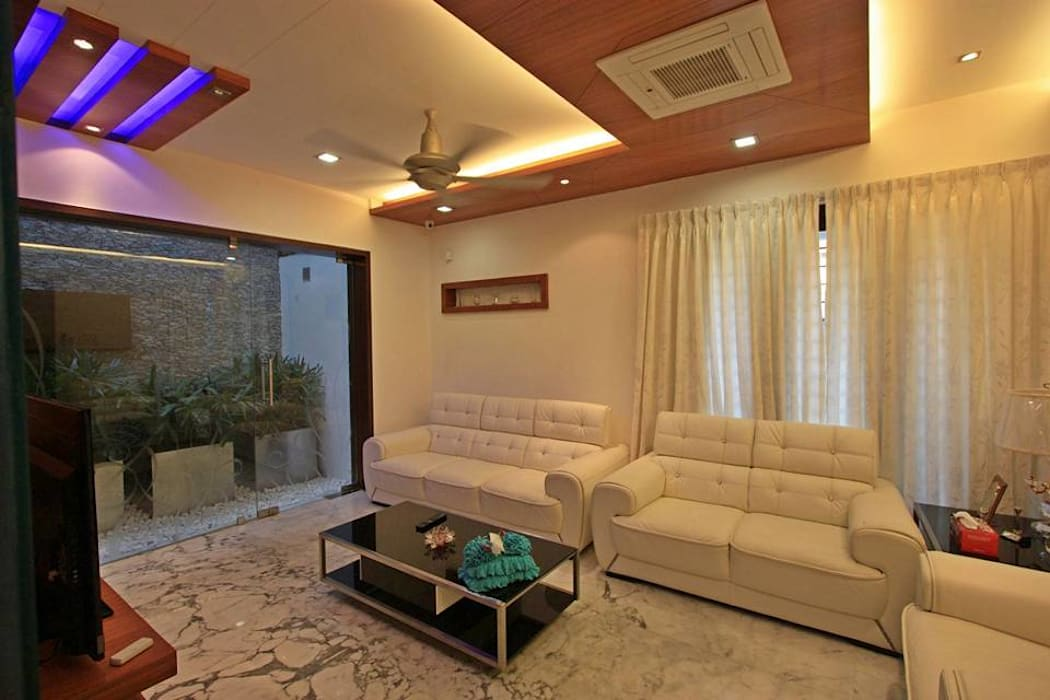 Drawing room: modern Living room by Ansari Architects