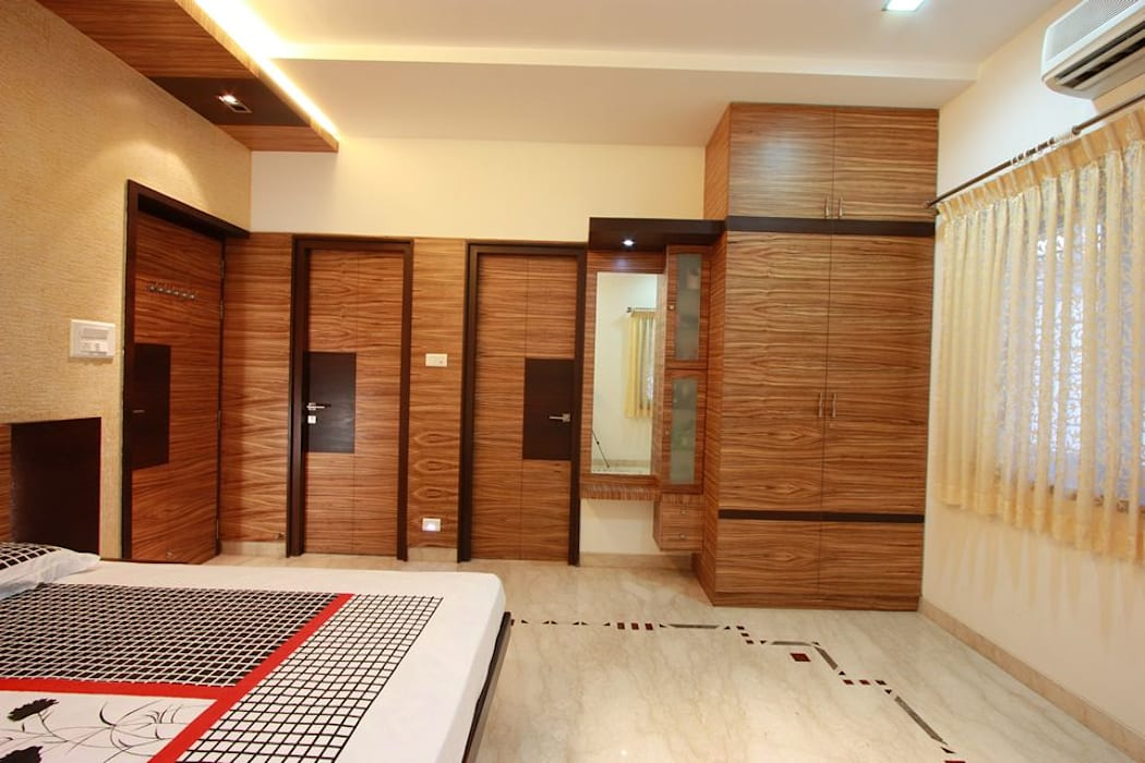 Bedroom: modern Bedroom by Ansari Architects