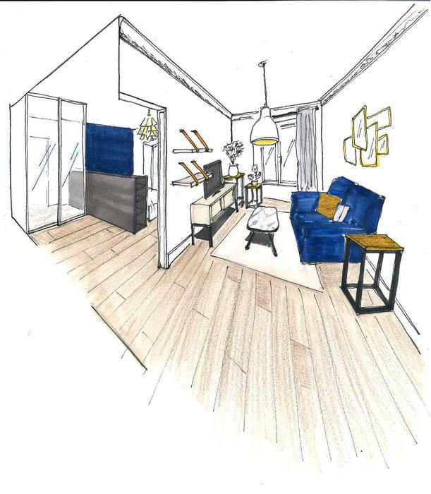 Notre proposition: Salon de style de style Classique par Mon Intérieur Sur Mesure (MISM)