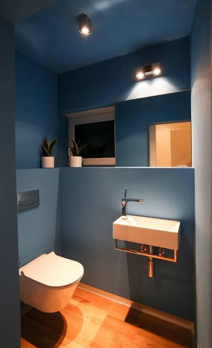 K-MÄLEON Hybridhaus // Gäste-WC:  Badezimmer von K-MÄLEON Haus GmbH