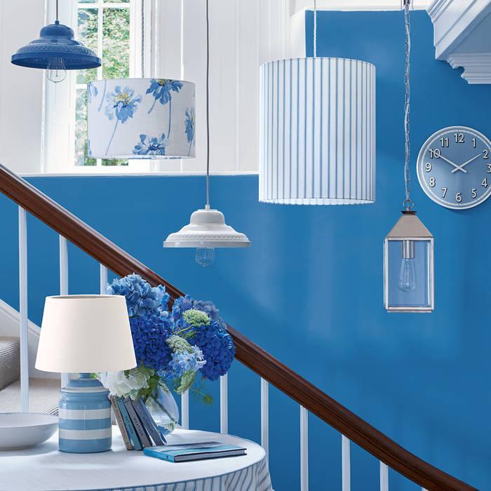 Laura Ashley Decoración Couloir, entrée, escaliersEclairage Bleu