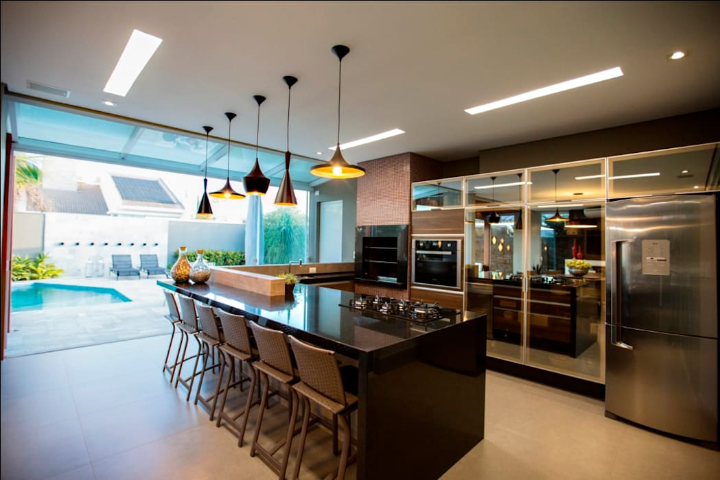 Kitchen by Arquitetura Ao Cubo LTDA, Tropical