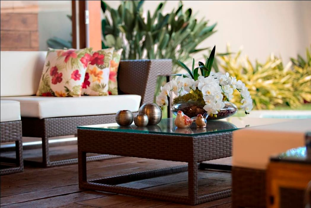 Balcones y terrazas de estilo tropical de Arquitetura Ao Cubo LTDA Tropical