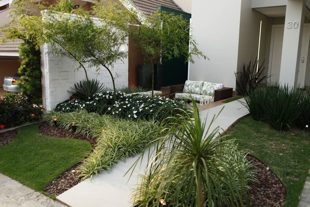 Jardines de estilo moderno de Arquitetura Ao Cubo LTDA Moderno
