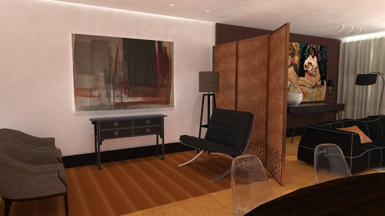 Projecto de Interiores | Remodelação Sala Salas de estar ecléticas por IDesign.art by Paula Gouveia Eclético