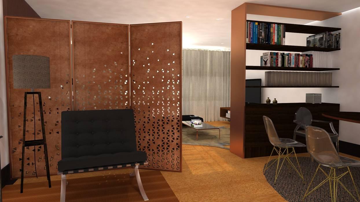 Projecto de Interiores | Remodelação Sala: Salas de jantar  por  IDesign.art by Paula Gouveia