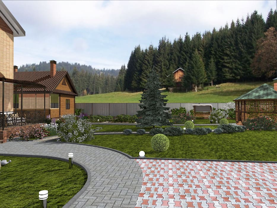 Modern Garden by Студия архитектуры и дизайна Вояджи Дарьи Modern
