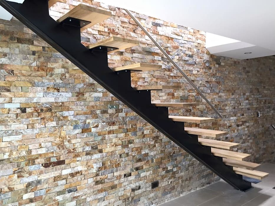 Reforma de apartamento en el Barrio Estadio Pasillos, vestíbulos y escaleras de estilo moderno de ALSE Taller de Arquitectura y Diseño Moderno