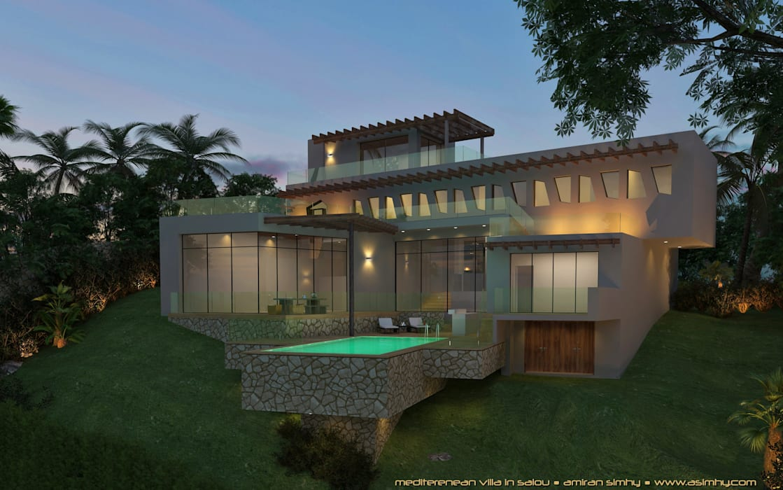 Villa-Salou:  Huizen door A. Simhy - Interieurarchitect BNI,