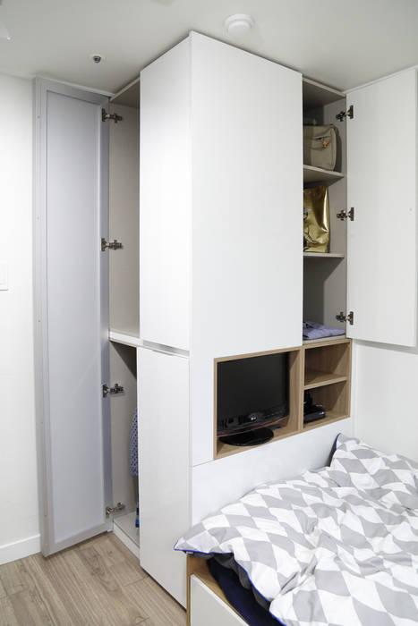 마이크로하우스 리모델링 Modern style bedroom by OUA 오유에이 Modern