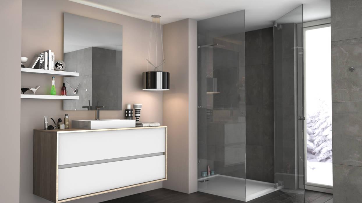 Amboage Rochene Floors Baños de estilo moderno