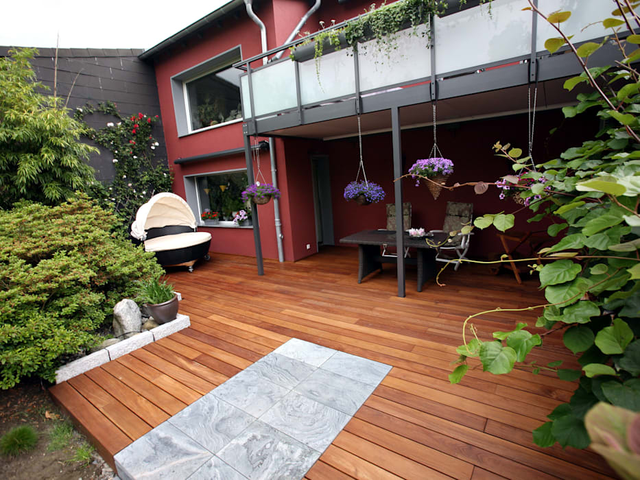 Balcon, Veranda & Terrasse rustiques par Kahrs GmbH Rustique