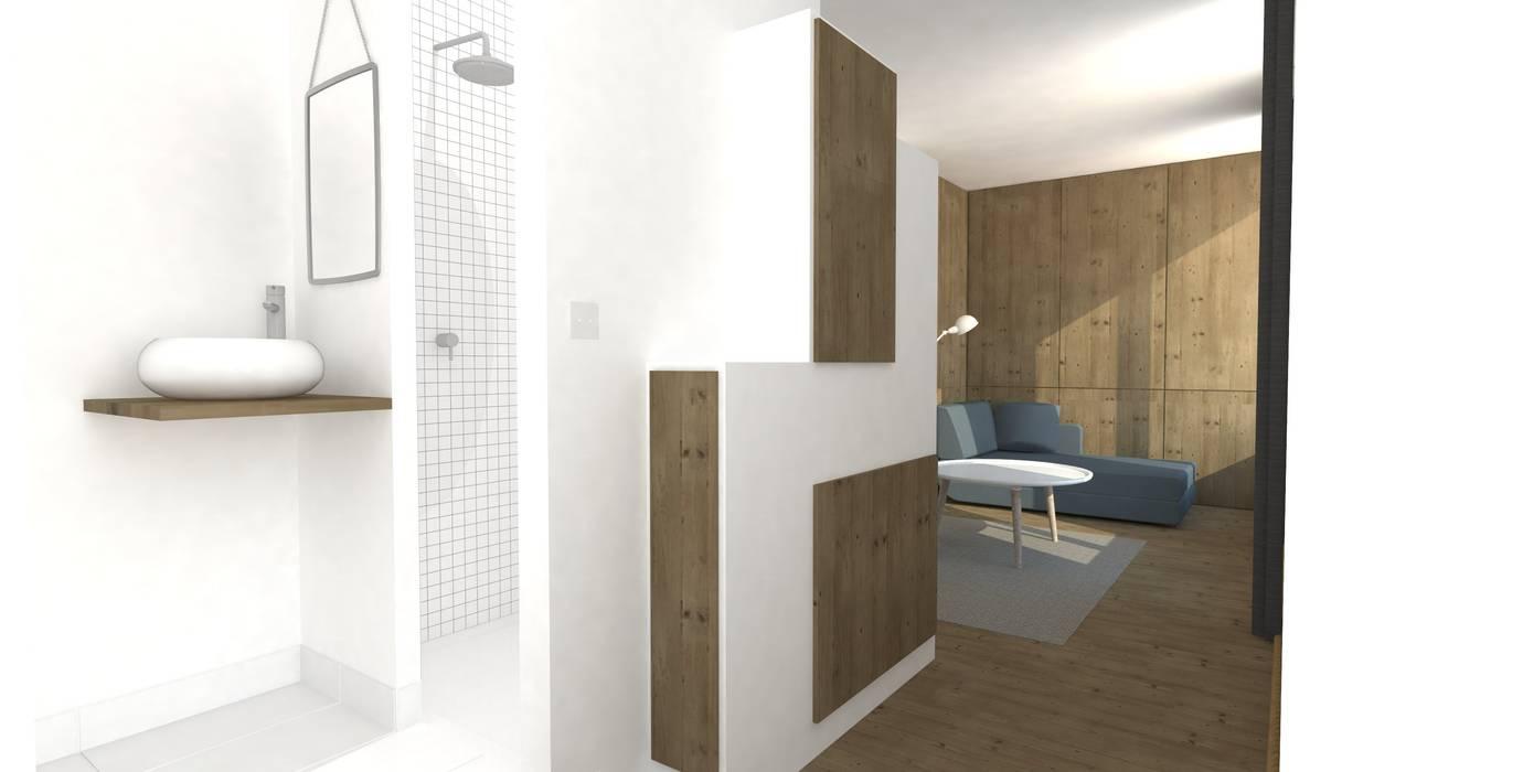 amenagement intérieur scandinave: Salon de style de style Scandinave par Ophélie Dohy architecte d'intérieur
