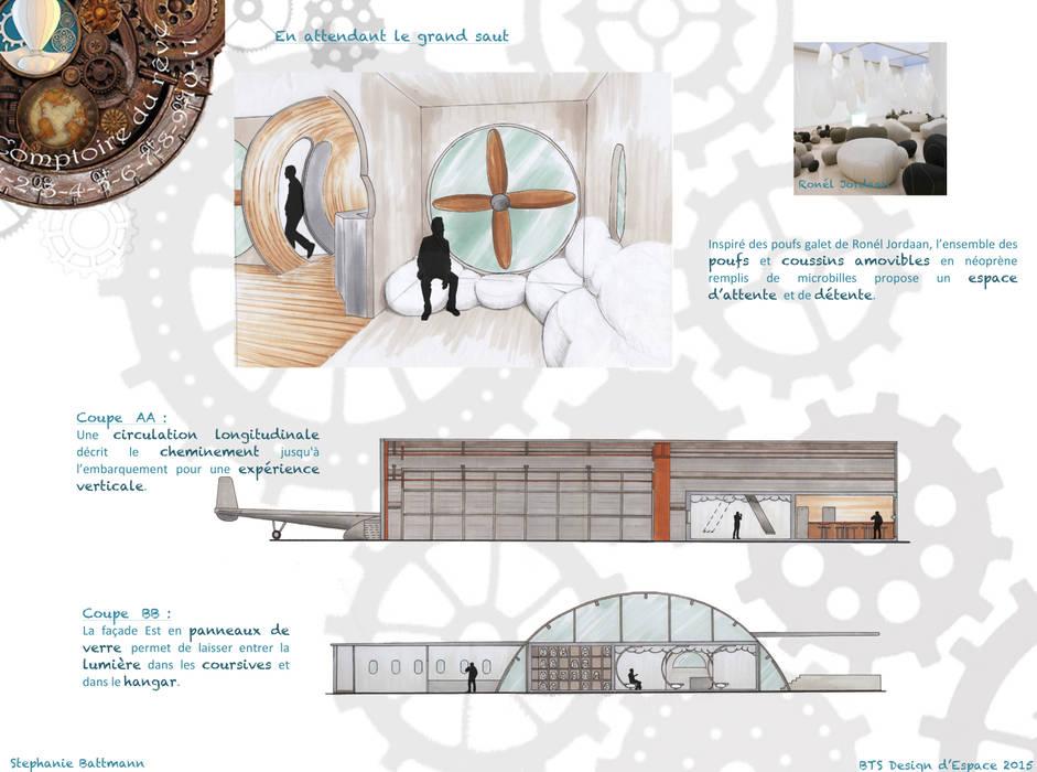 Comptoir du rêve. 10: Garage / Hangar de style  par Sb Design Concept