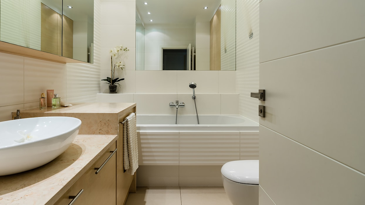 Casas de banho modernas por Anna Serafin Architektura Wnętrz Moderno