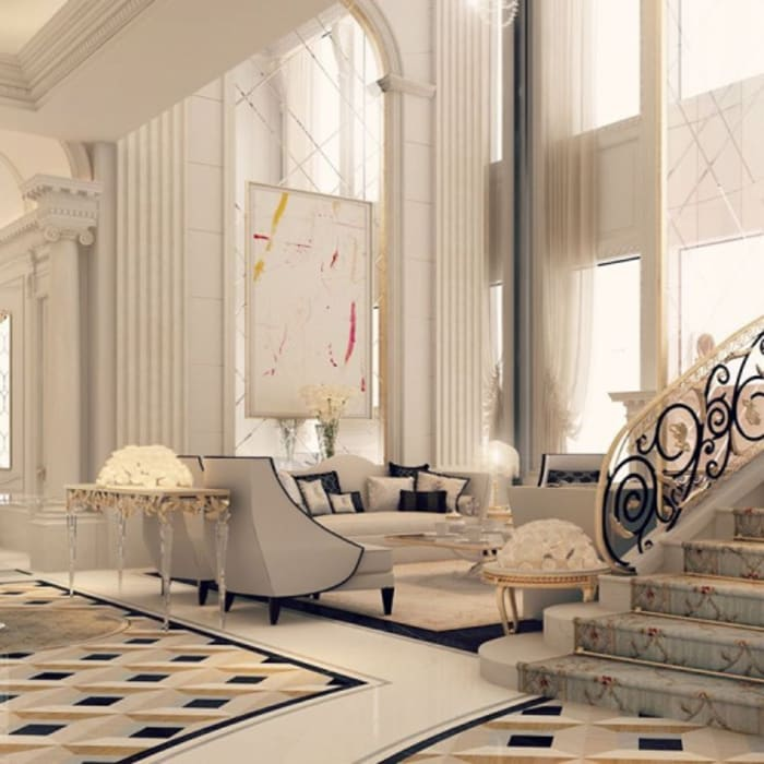 Interior Design & Architecture by IONS DESIGN Dubai,UAE Pasillos, vestíbulos y escaleras de estilo colonial de IONS DESIGN Colonial