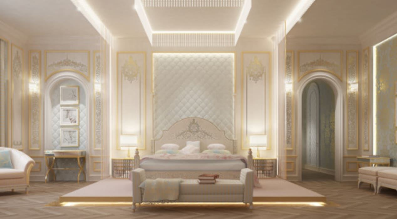 Interior Design & Architecture by IONS DESIGN Dubai,UAE Classic style bedroom by IONS DESIGN Classic