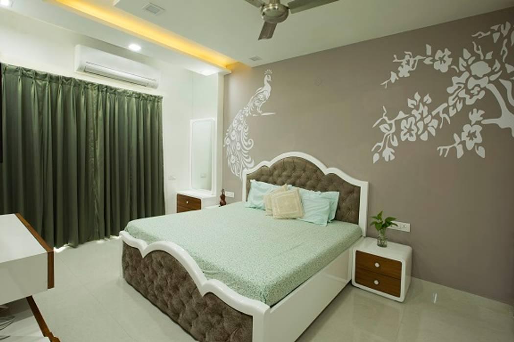 Bedroom: minimalistic Bedroom by IMAGIC INTERIORS