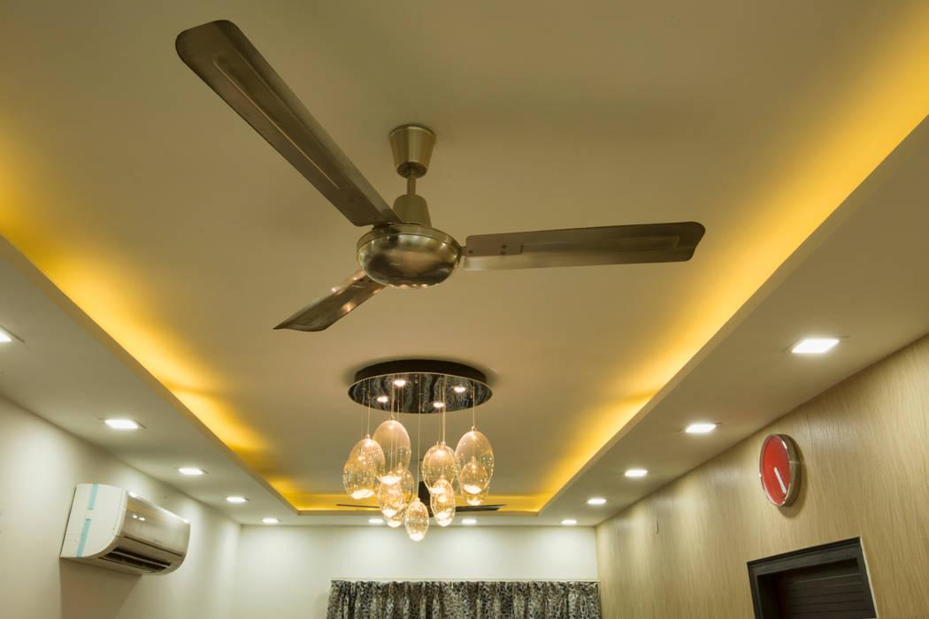 Living room cieling: minimalistic Living room by IMAGIC INTERIORS