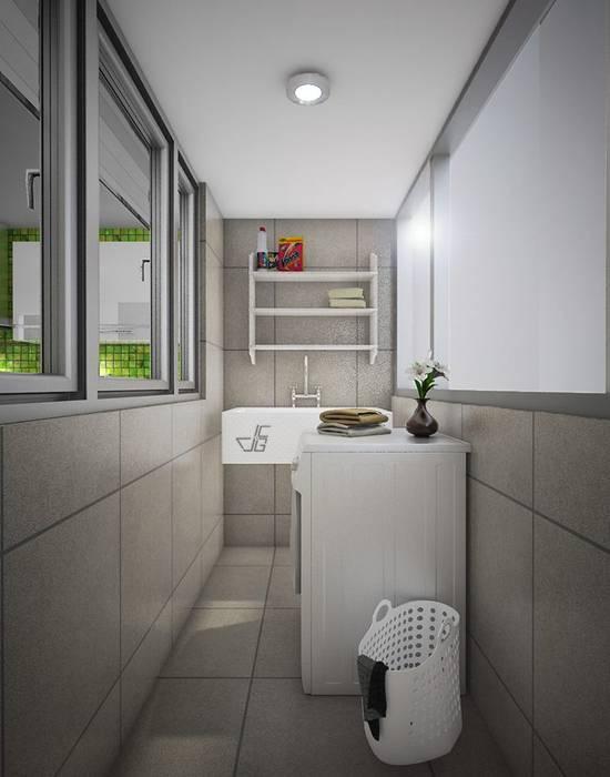 Proyecto en San Andrés, Trujillo Modern bathroom by Arquitectura y diseño 3d- J.C.G Modern