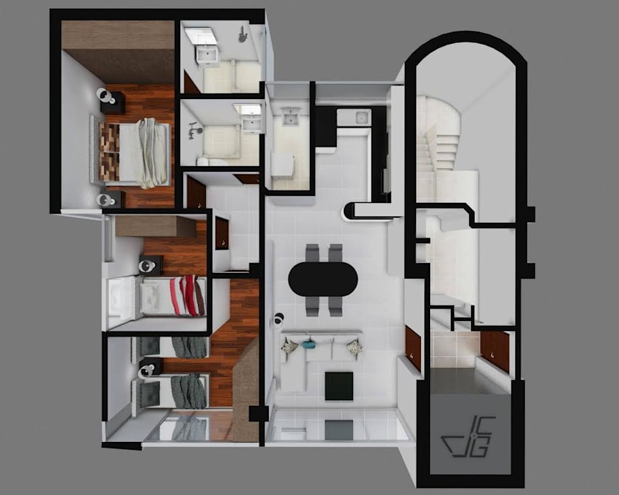 modern  by Arquitectura y diseño 3d- J.C.G, Modern