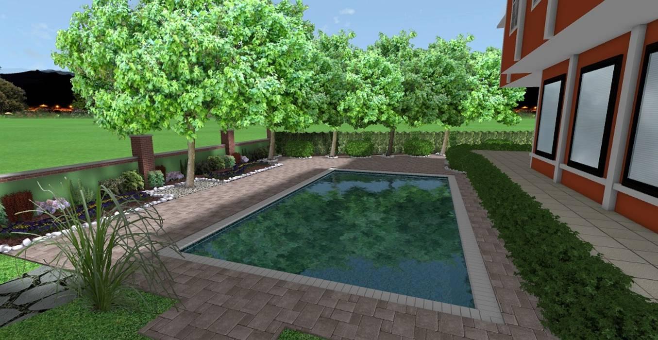 FLORYA İKİZ VİLLA - PEYZAJ PROJE // FLORYA SEMIDETACHED VILLA - LANDSCAPE PROJECT Modern Bahçe AYTÜL TEMİZ LANDSCAPE DESIGN Modern